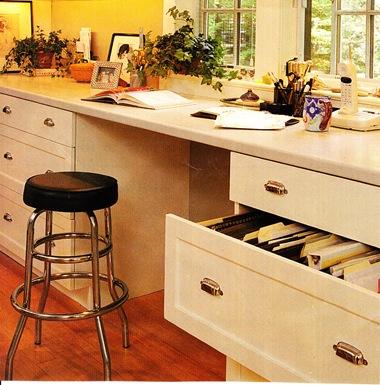 Kodukontor köögis. Failisahtel